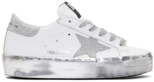 Golden Goose White Hi Star Platform Sneakers