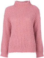 Moschino chunky knit turtleneck jumper