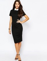 Asos Bodycon Dress With Collar
