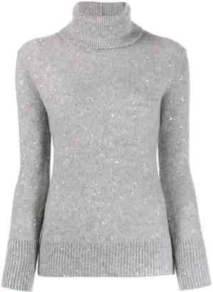 Fabiana Filippi embellished turtle-neck sweater