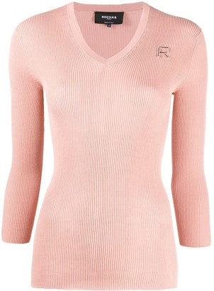 Rochas Ribbed-Knit Cotton Jumper
