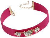 INC International Concepts Gold-Tone Pink Crystal Stone Choker Necklace, Created for Macy's