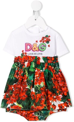 Dolce & Gabbana Love is Love floral print dress