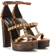 Burberry Rhys 130 Embellished Suede Sandals
