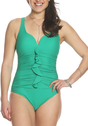 Sun And Sea Sun and Sea Women's One Piece Swimsuits LAGOON - Lagoon Ruffle-Front Sweetheart One-Piece - Women & Plus