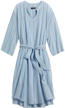 Banana Republic Stripe Cotton-Linen Shirt Dress