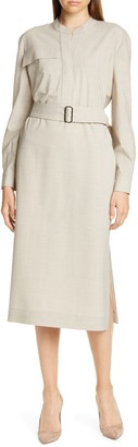 Judith And Charles Livorno Long Sleeve Shirtdress