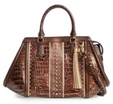 Brahmin Milan Arden Embossed Leather Satchel - Brown