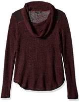 Jessica Simpson Women's Rocha Funnel Neck Sweater-Red Velvet