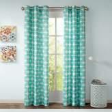 Intelligent Design Lita 84-Inch Grommet Top Window Curtain Panel Pair in Aqua