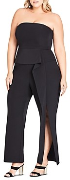 City Chic Plus Twister Ruffle Jumpsuit