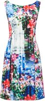 Adrianna Papell Printed scuba dress