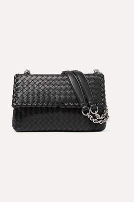 Bottega Veneta Olimpia Small Intrecciato Leather Shoulder Bag - Black