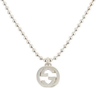 Gucci Interlocking Necklace in Silver | FWRD