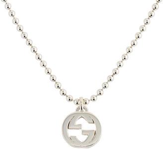 Gucci Interlocking Necklace in Silver | FWRD