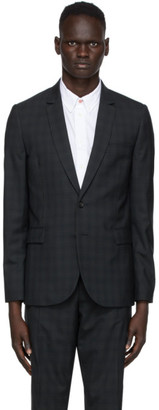 Paul Smith Navy and Green Check Blazer