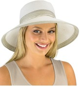 Jendi Adjustable Lurex Wide Brim Hat
