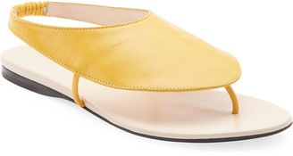 The Row Ravello Leather Stretch Sandals