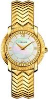 Versace Women's 'Dv-25-Feet Swiss Quartz Stainless Steel Casual Watch, Color:Gold-Toned (Model: VAM040016)