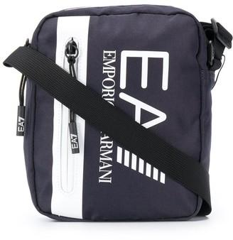EA7 Emporio Armani Logo-Print Messenger Bag