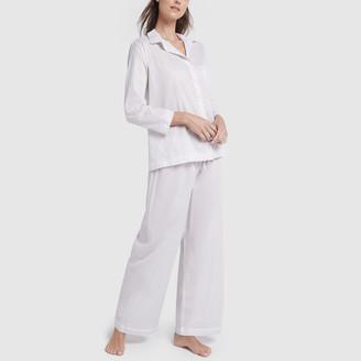 Pour Les Femmes Cotton Lawn Pj Set with Lace Details