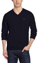 Victorinox Men's Suisse Signature Long-Sleeve V-Neck Jersey Sweater