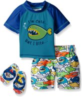 Wippette Baby Angry Fish Rash Guard Set