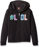 Hanes Big Girls' Ecosmart Graphic Full-Zip Fleece Hoodie
