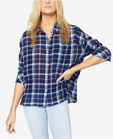 Sanctuary Cotton Plaid Boyfriend Shirt