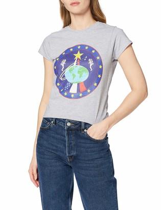 Brands In Limited Women's NASA Globe Astronauts T-Shirt