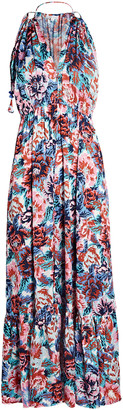 Poupette St Barth Rachel Sleeveless Floral Maxi Dress