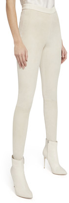 Alice + Olivia Maddox Back Zip Suede Legging
