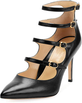 Marion Parke Mitchell Iconic Strappy Calf Leather Pumps