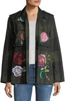 Libertine Beaded Floral-Embroidered Army Jacket