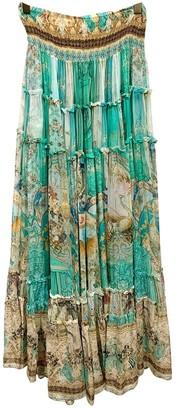 Camilla Blue Silk Skirt for Women