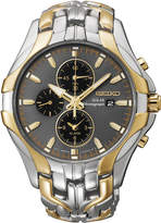 Seiko Excelsior Mens Two-Tone Chronograph Solar Watch SSC138