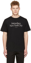 Saturdays Nyc Black Miller Standard T-shirt