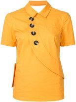 Self-Portrait button shirt - women - cotton - 6