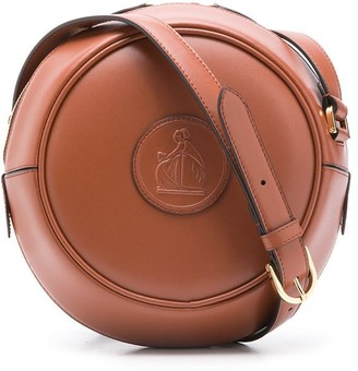 Lanvin Logo-Patch Round Crossbody Bag