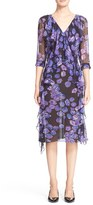 Jason Wu Women's Floral Print Ruffle Silk Dress