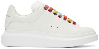 Alexander McQueen White Rainbow Hardware Oversized Sneakers