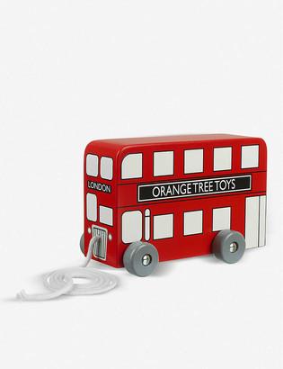 Orange Tree Toys London Bus wooden pull-along toy 14cm