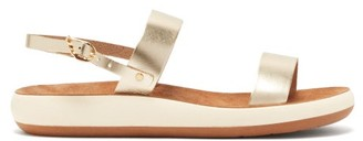 Ancient Greek Sandals Clio Comfort Leather Sandals - Womens - Gold
