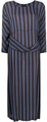 Comme des Garçons Comme des Garçons Striped Oversize Belt Dress