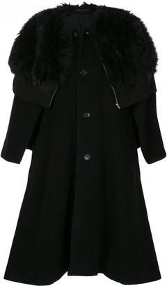 Comme Des Garçons Pre Owned Faux Fur Cape Coat