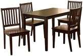 Tms shaker 5-pc. dining table and chairs set