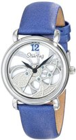 Stuhrling Original Women's 737.01 Vogue Pirouette Analog Display Swiss Quartz Blue Watch