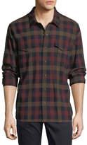 Vince Check Wool Western Shirt