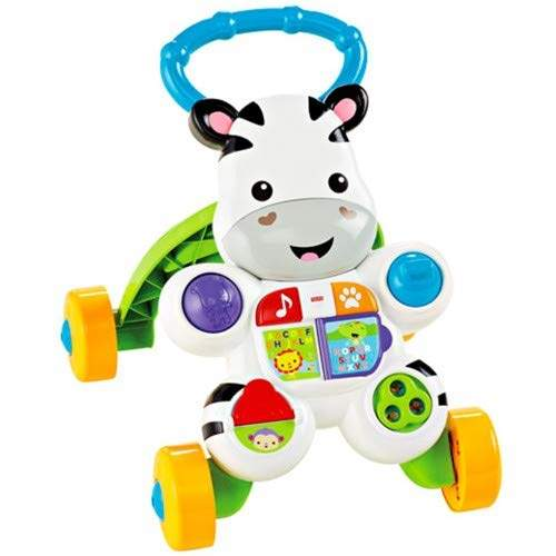 Baby or Toddler Walker and Electronic Educational Toy with Music and Sounds & Basics AA Performance Alkaline Batteries Fisher-Price DLF00 Learn with Me Zebra Walker Pack of 8