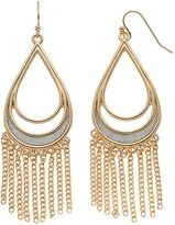 JLO by Jennifer Lopez Fringe Glittery Teardrop Earrings